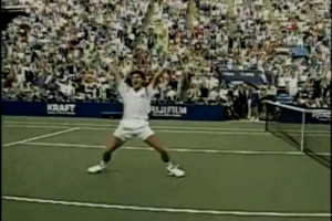 jimmy connors at the 91 US Open